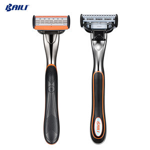 Powerful 6 layers sharp 5 blade system mens razor for mens