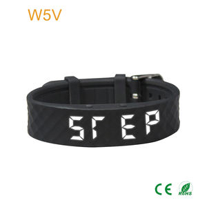 custom logo silicone pedometer band mens digital sport led smart watch with clock