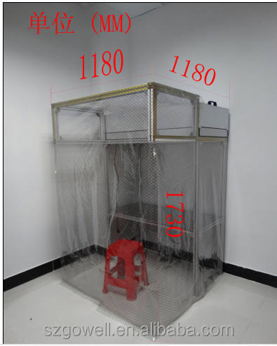 Portable customized dust free room modular clean room for lcd refurbishing