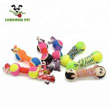 Dog Ball Cotton With Rope Tug Toy 7 Colors Spiky Bone Shape Pet Toy Dog Chew Training Interactive Toys For Medium Large Dogs