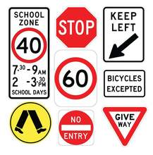 Wholesale Safety Street Reflective Sheeting Circle Aluminum Highway Warning Traffic Road Safety Sign