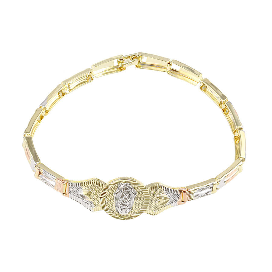 74588 hot jewelry trends Virgin Mary etching fashion fake gold bracelets