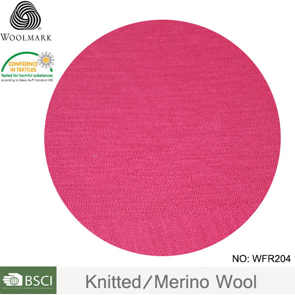Wholesale custom knit fabric 100% merino wool interlock fabric