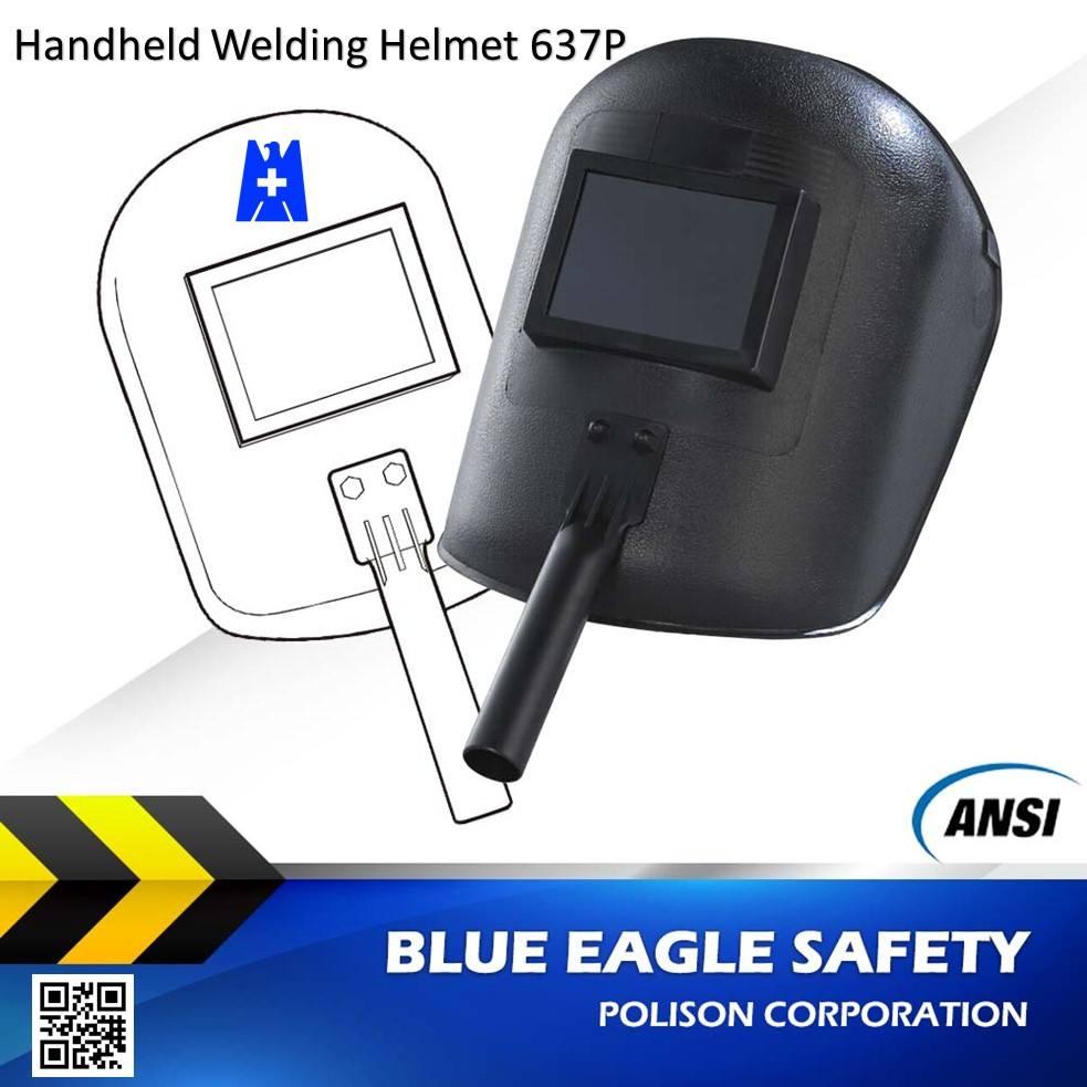 ブルーイーグル安全ansi z87.1ハンドヘルド溶接ヘルメット