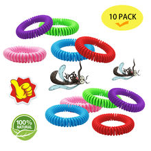 Silicone Mosquito Repellent 30pk anti Mosquito Bracelet with 5 Free Sheets of Patches on Amazon