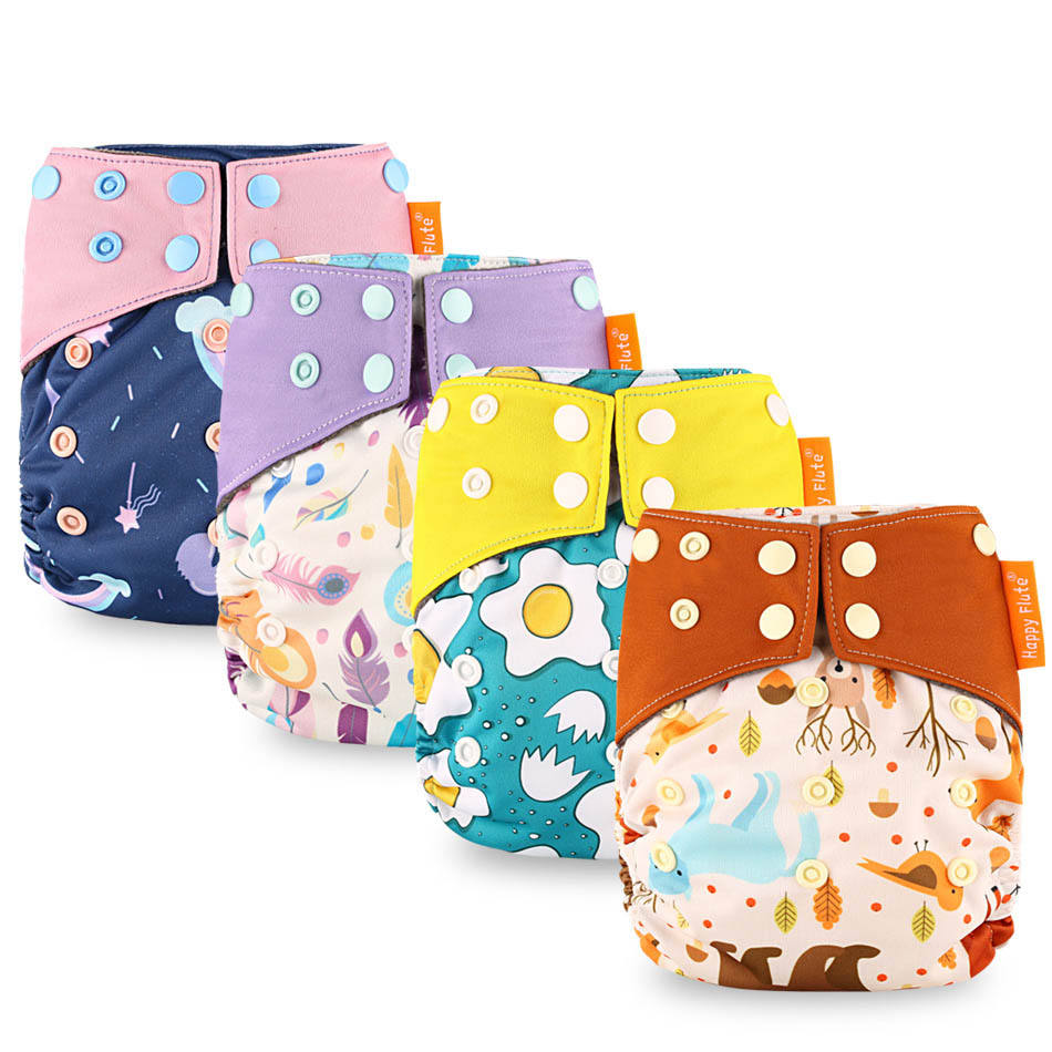Elinfant Baby Washable Diaper Baby Cloth Diaper Cover Sleep DiaperAIO Baby Cloth Diaper