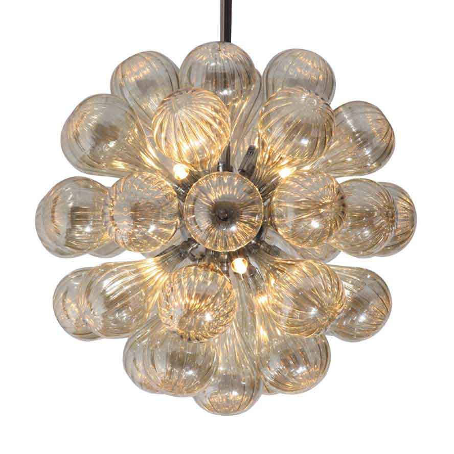Murano Modern Home Hand blown Smoke Glass Chandelier