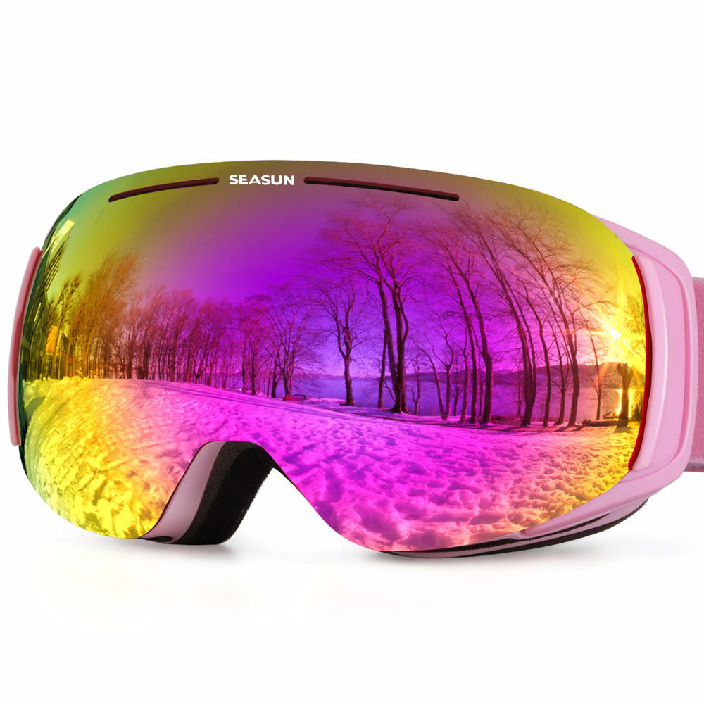 High Quality Ski Goggles Anti-scratch Snow Glass Anti-fog Professional Skiing Goggle Shock Resistance Snowboarding Glasses