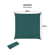 Square UV Resistant Water Repellent Polyester  windshield Sun Shade Sail Nets 5 *5m Car Parking Shade