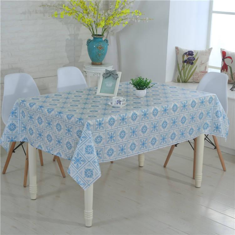 Sentido casa fantasia azul toalha de mesa mesa de plástico rígido capa