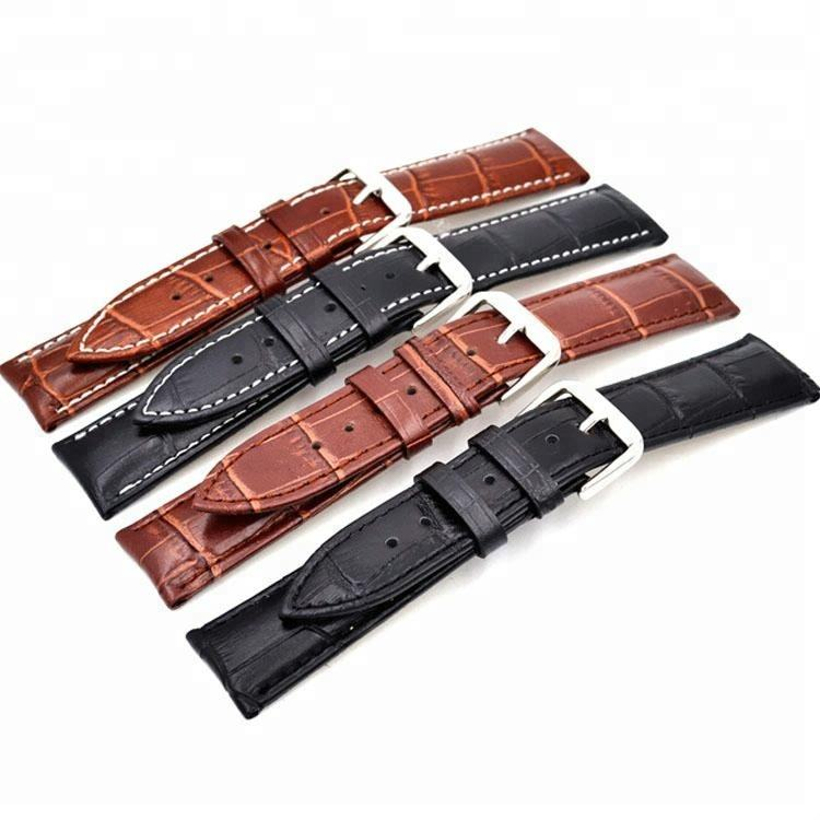 12mm-24mm wholesale Cheap price split hide handmade leather band watch strap