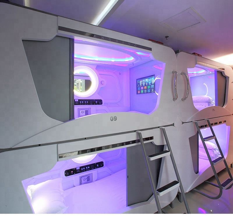 customized Japanese sleeping pods for capsule hotel and backpackers