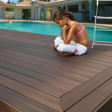 Plastic roof deck waterproofing composite wood decking outdoor WPC flooring board decking