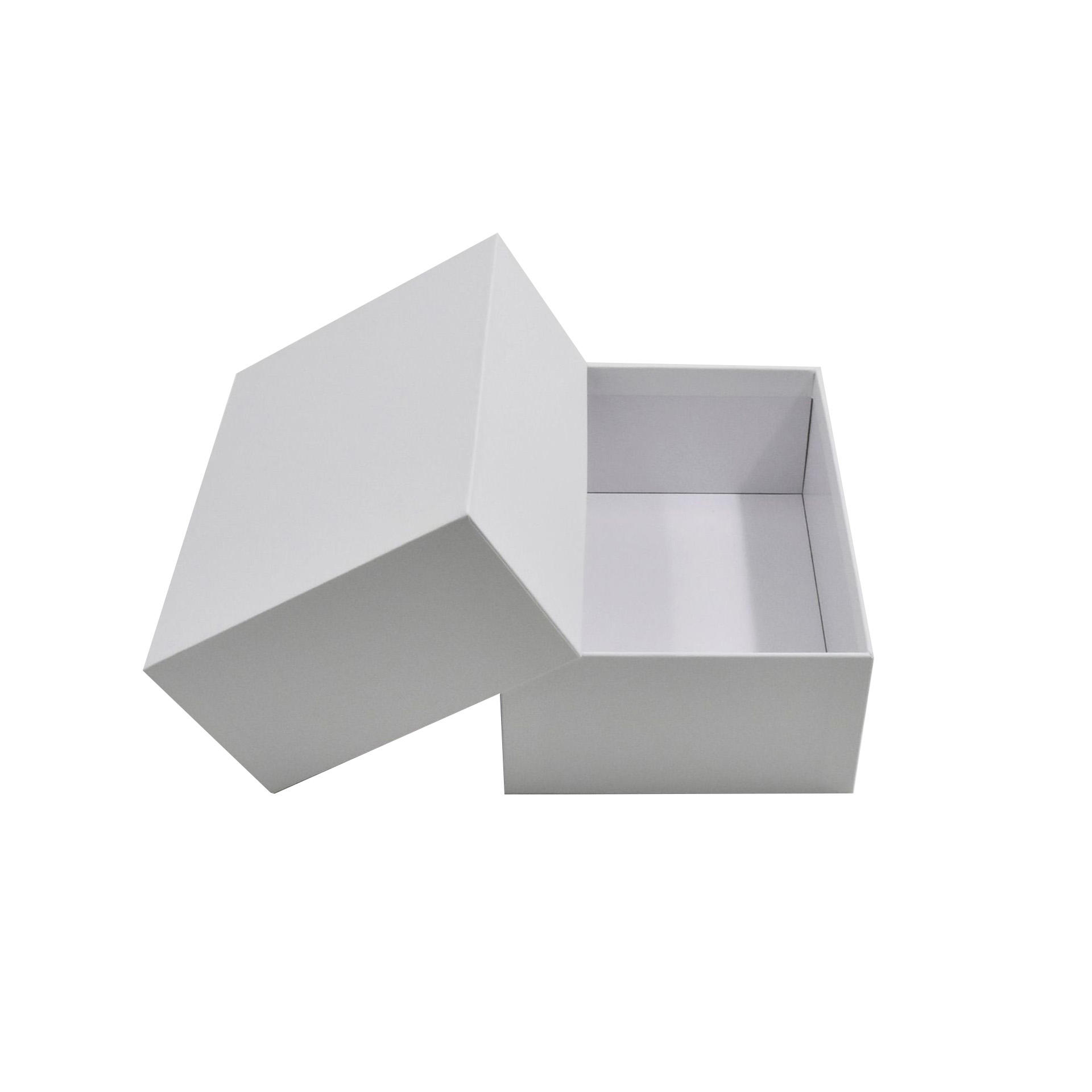 Stock retail white rectangle gift box shoe box rigid box packaging with lid 28*20*9CM
