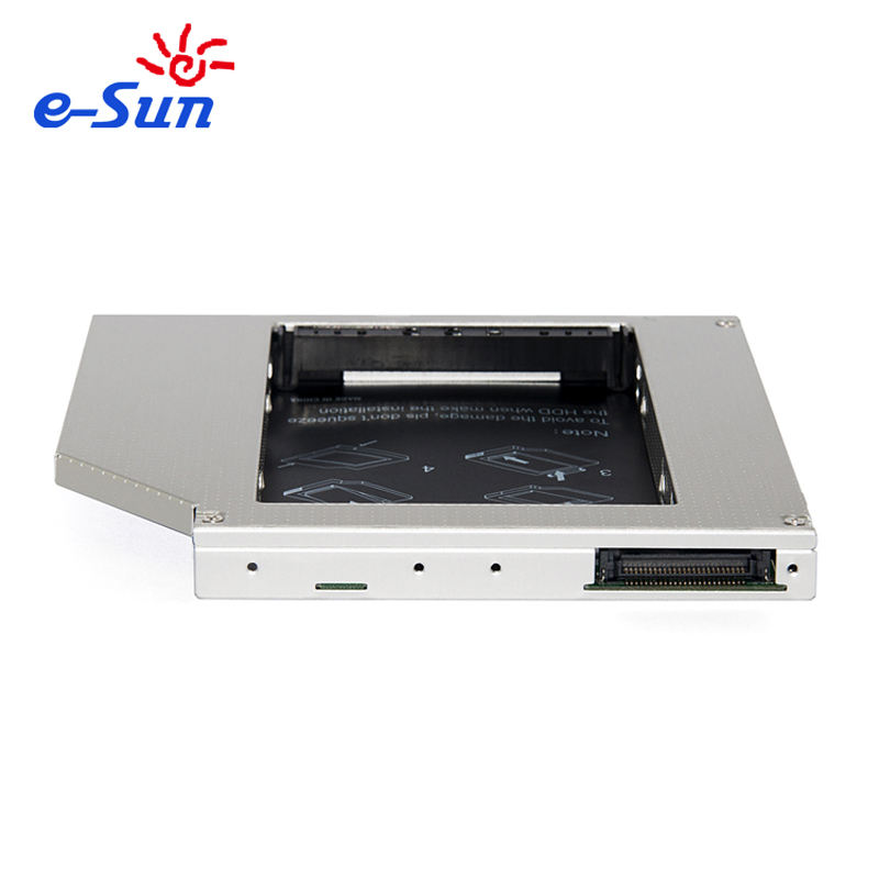 E-sun-adaptador Opctical de 12,7mm IDE a SATA HDD <span class=keywords><strong>Caddy</strong></span> a CD/DVD, 2 ° HDD <span class=keywords><strong>Caddy</strong></span> Universal para todas las <span class=keywords><strong>marcas</strong></span> de ordenadores portátiles