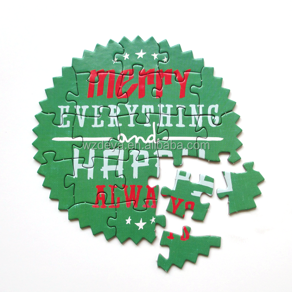 <span class=keywords><strong>Custom</strong></span> made merry christmas puzzle biglietti di auguri