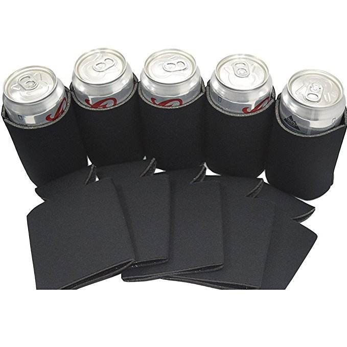 Beer Tin Can Stubby Cooler Sleeve Holder Wrap Neoprene Outdoor Black