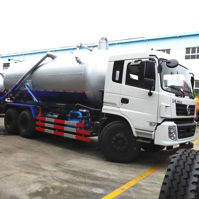Dongfeng 10cbm 15 cbm 18cbm vacuum tank suction tanker truck emptying sewage from sewer high pressure vacuum suction truck