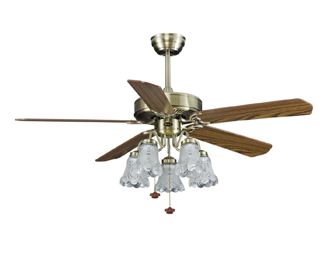 "52"" inch flush mounted ceiling fan with light pull cord control CE SAA CB approved use pure copper motor"