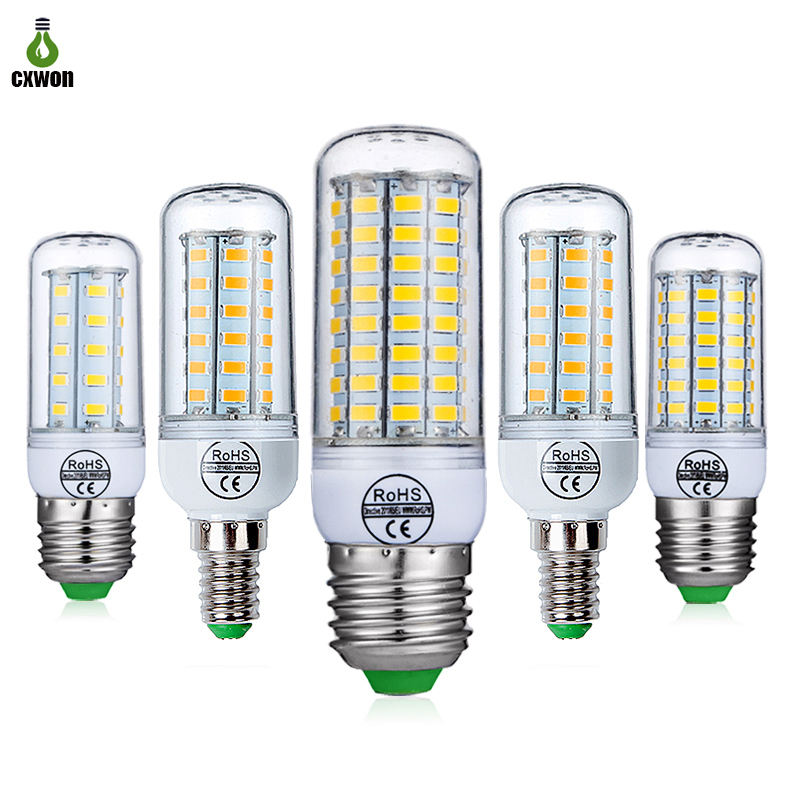 E27 E14 B22 G9 GU10 220 V 24 36 48 56 69 72 LEDs Kroonluchter Kaars LED Light 220 V led Corn bulb
