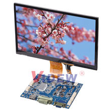 10.1inch lcd touch screen support DVI/VGA input with USB CTP driver