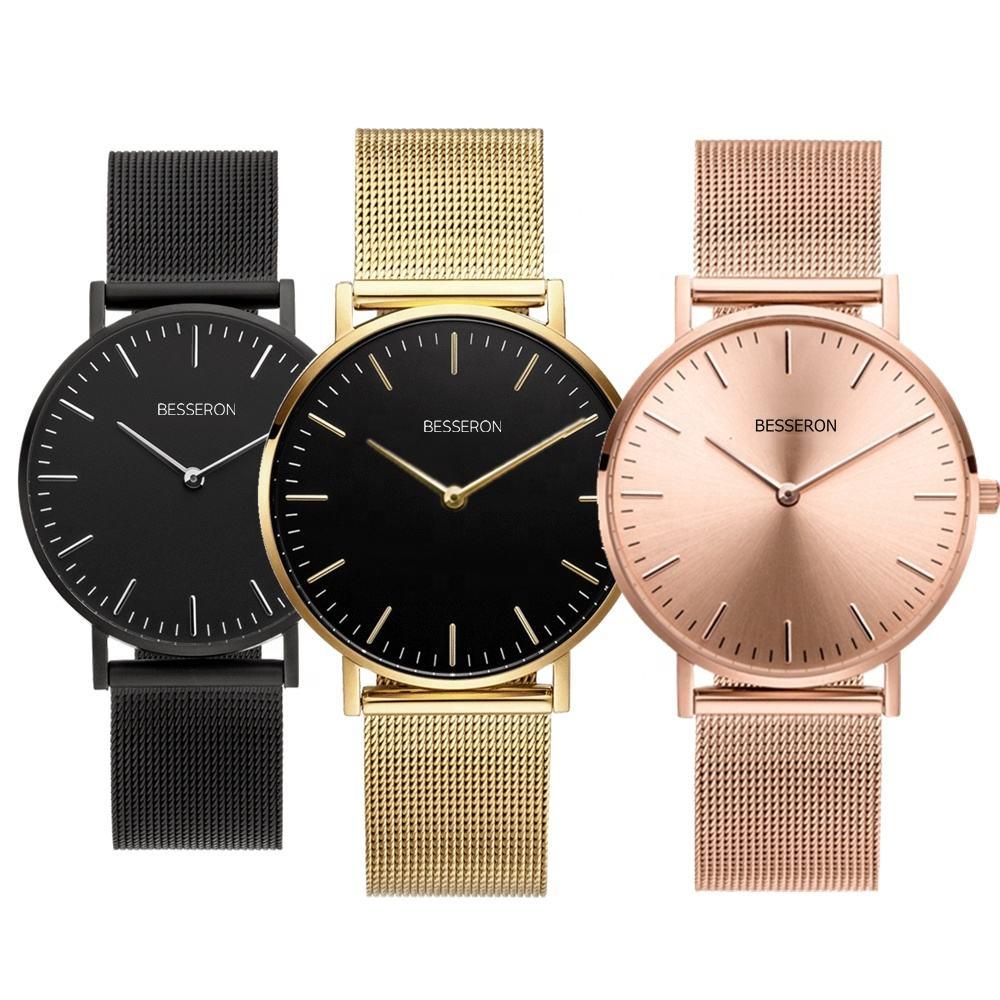 MOQ 50 custom logo design your own watch japan miyota movement stainless steel gold classic ladies watch women