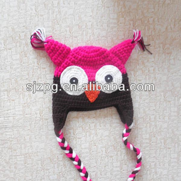 venta al por mayor 2014 multicolor minion sombrero de punto para bebés
