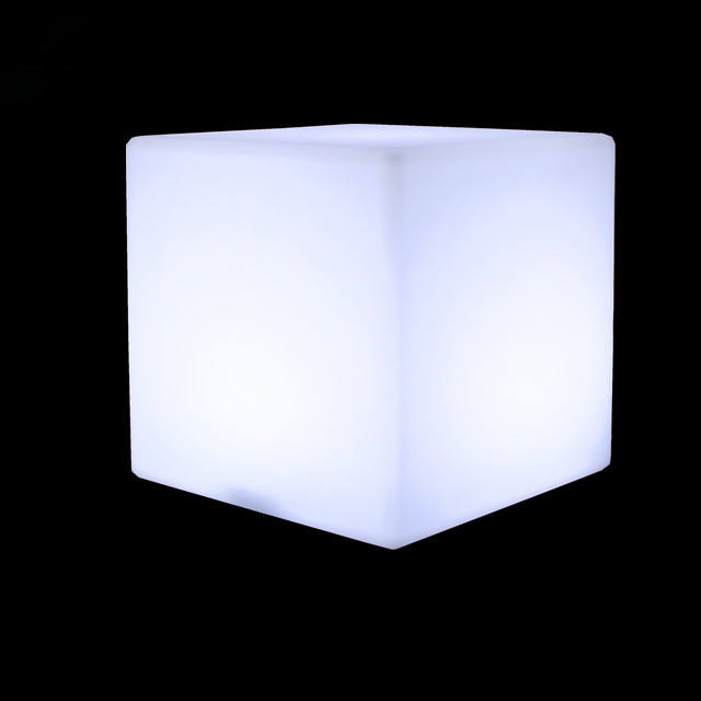 Rechargeable outdoor plastic LED light cube / 3D rgb LED magic cube light / waterproof LED lighted cube chair
