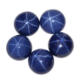 Domed Blue Sapphire, Blue Star Gems, China Synthetic Round Shape Star Gemstone
