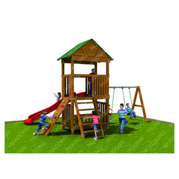 New hot product wooden Slide,Children Outdoor Playground Kids Wood Slide