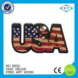 Us drapeau brodé patchs pour heureux fête du travail