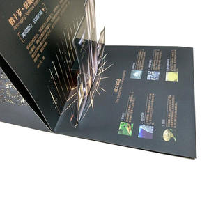 Manufacture Custom Coated Paper Waterproof Postcard Flyer Printing A4 A5 7 Inch Digital Video Brochure