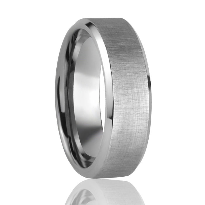 Geborsteld Mens Titanium Ring Mode Titanium Ring Core