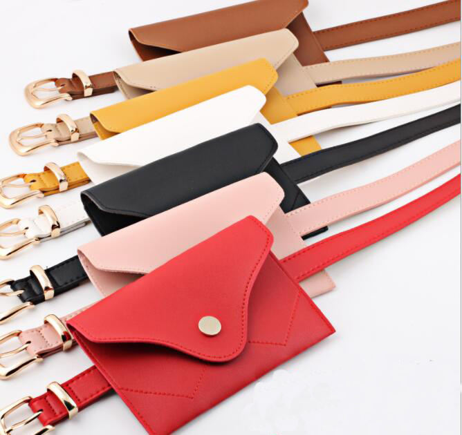 2019 hot selling fashion women shine pink pu leather belt bag,Factory custom black lady leather belt waist bag