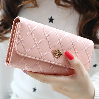 JLB005 2018 Lingge crown decor 암 wallets 가죽 woman lady purse 지갑