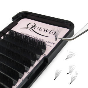 Quewel Blooming Eyelash Extension, Customize Easy Fan Lash Extension Fans, Wholesale Volume Eyelash Extension Fans