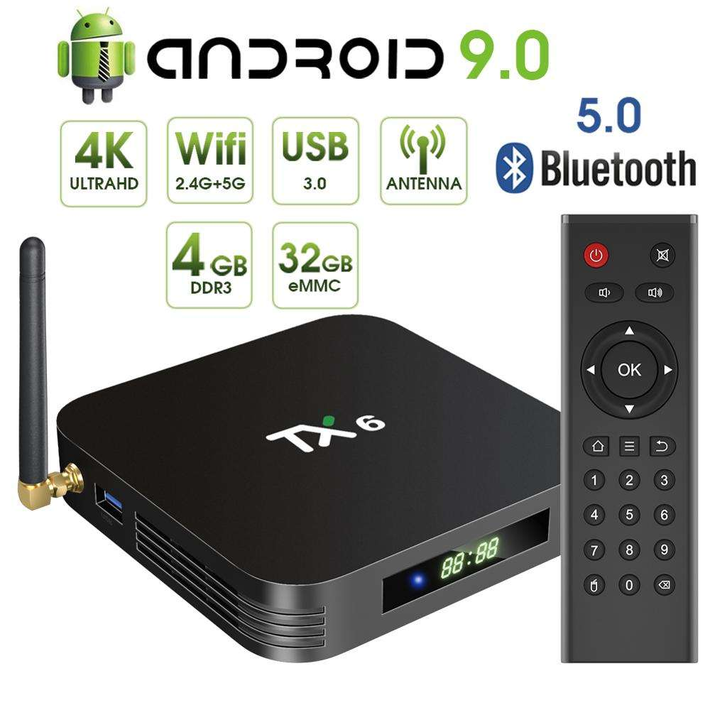 <span class=keywords><strong>Tv</strong></span> <span class=keywords><strong>Box</strong></span> 2019 Android Tanix H6 4G 32G 5 Ghz Allwinner Media Player 8 K Ontvanger 4 Gb ram 32 Gb Rom Lijst Setup Tx6
