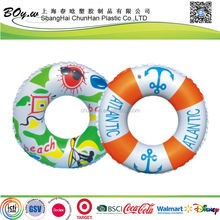 Sedex fatory testing OEM customized design floating tube pirate pvc 90cm inflatable pool swim ring