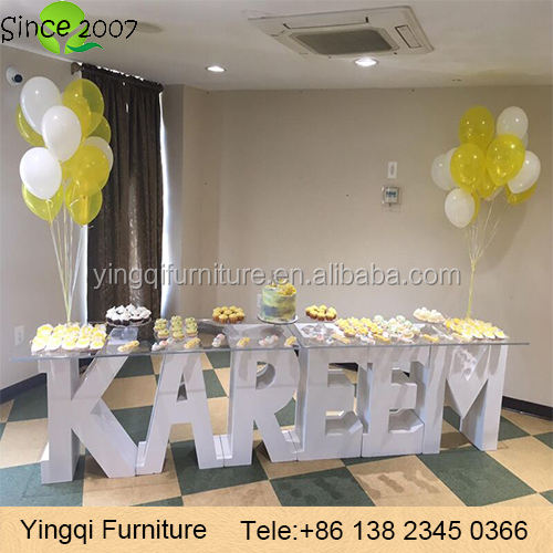 Wedding Party Stage Decoration Plastic Number Letters
