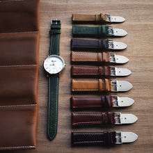 Quick Release Top Grain Leather Watch Band Strap - Choice of Color & Width (18mm, 20mm 22mm & 24mm) italian leather watch straps