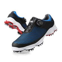 Outdoor Sport Shoes Soft Microfiber Anti-skid Men Golf Sneakers
