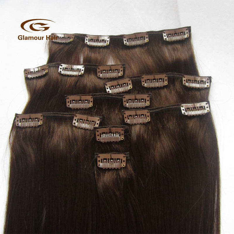 Top Selling Factory Wholesale Tangle Free Remy Hair Extension 70Cm Clips