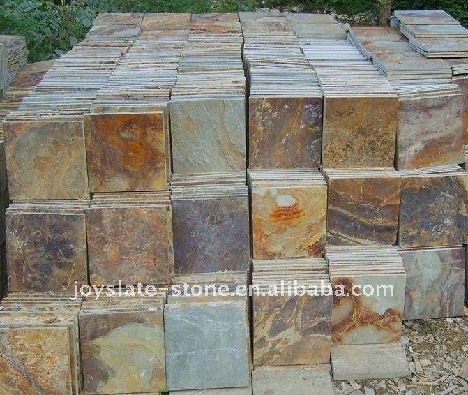 Natural Multi Colored Floor Slate Tile