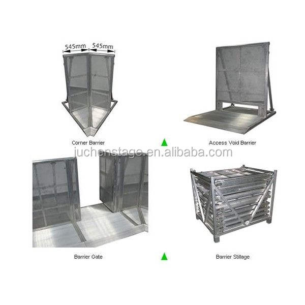 Explosion-Proof Forces Crowd Barrier Explosion Proof Bar Collision Bars Commercial Aluminum Barrier Bars Safety Barriers