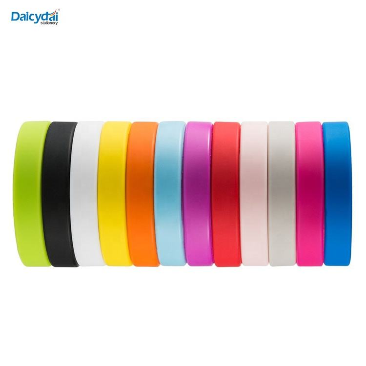 Party Gift Custom Promotional Kids & Adults Sizes Mixed Colors Blank Embossed Debossed colors Silicone Bracelet/Wristband