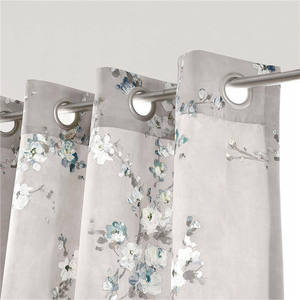 Blossom Floral Pattern eyelet blackout curtain ,living room blackout curtain ready made