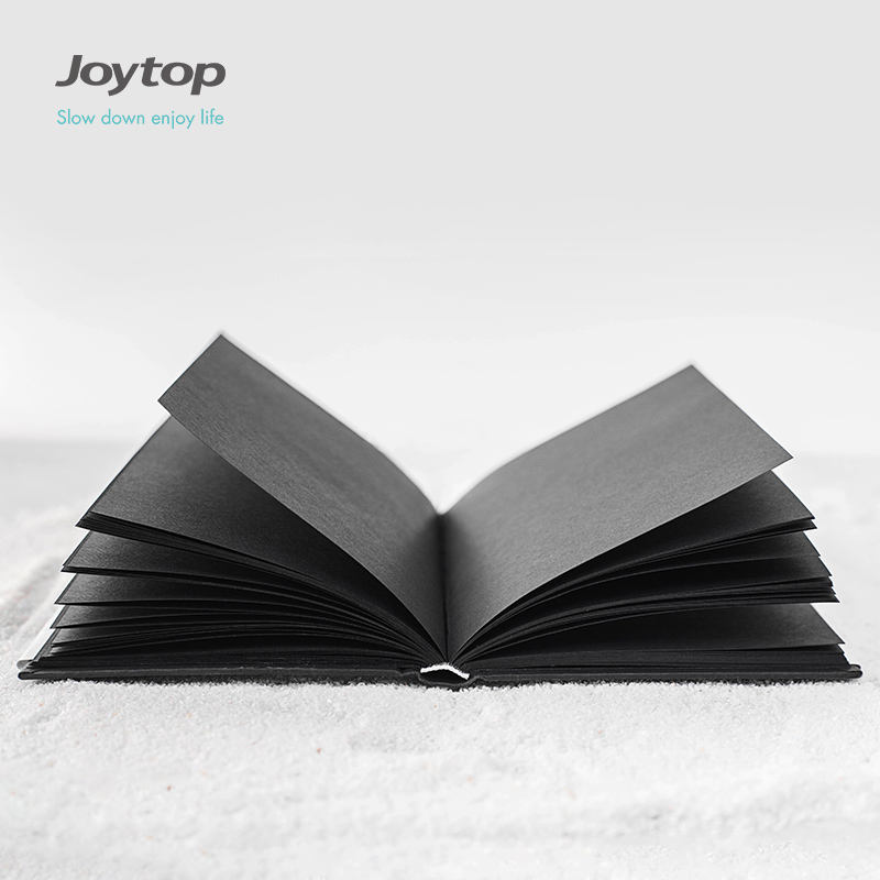 Joytop FOREVER hardbound notebook A5 journal brown paper black paper plain 6264