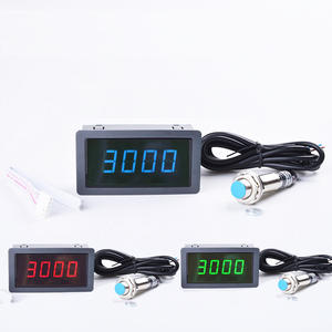 4 Digital Red Green Blue LED Tachometer RPM Speed Meter + 홀 스 근접 스 센서 12 V Measure range 10-9999 RPM Counter