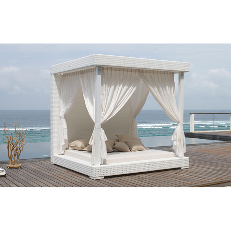 Seaside Outdoor Rattan Beach Furniture Double Bed