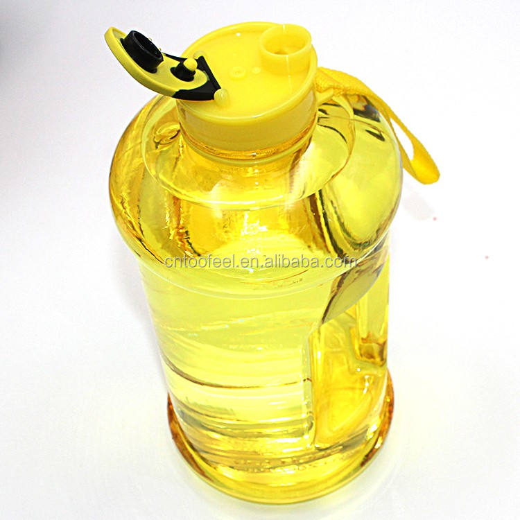 Straight Plastic Water Bottle Portable Lager Capacity Water Bottle For Gym